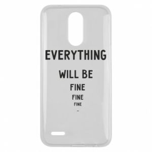 Etui na Lg K10 2017 Everything will be fine... fine... fine
