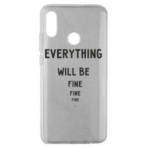 Etui na Huawei Honor 10 Lite Everything will be fine... fine... fine