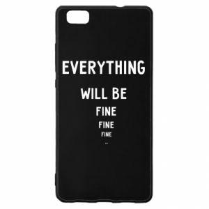 Etui na Huawei P 8 Lite Everything will be fine... fine... fine