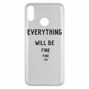 Etui na Huawei Y9 2019 Everything will be fine... fine... fine