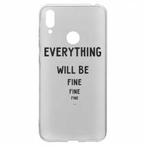 Etui na Huawei Y7 2019 Everything will be fine... fine... fine