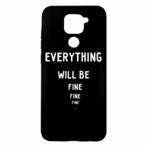 Etui na Xiaomi Redmi Note 9/Redmi 10X Everything will be fine... fine... fine