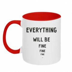 Kubek dwukolorowy Everything will be fine... fine... fine