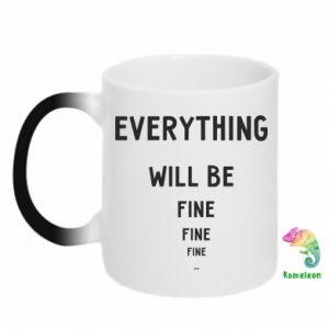Kubek-kameleon Everything will be fine... fine... fine
