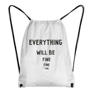 Plecak-worek Everything will be fine... fine... fine