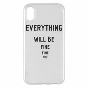 Etui na iPhone X/Xs Everything will be fine... fine... fine