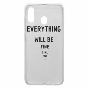 Etui na Samsung A20 Everything will be fine... fine... fine