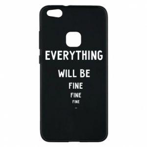 Etui na Huawei P10 Lite Everything will be fine... fine... fine