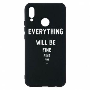 Etui na Huawei P20 Lite Everything will be fine... fine... fine