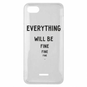 Etui na Xiaomi Redmi 6A Everything will be fine... fine... fine