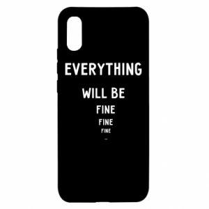 Etui na Xiaomi Redmi 9a Everything will be fine... fine... fine