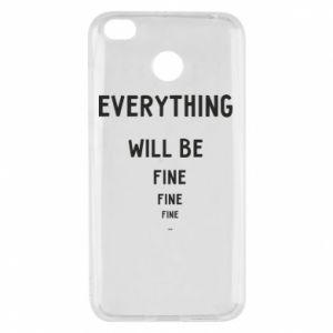Etui na Xiaomi Redmi 4X Everything will be fine... fine... fine