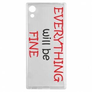 Etui na Sony Xperia XA1 Everything will be fine