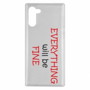 Etui na Samsung Note 10 Everything will be fine