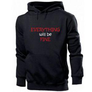 Bluza z kapturem męska Everything will be fine