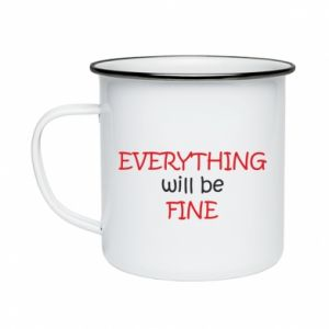 Kubek emaliowany Everything will be fine