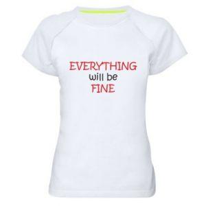 Koszulka sportowa damska Everything will be fine