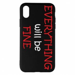 Etui na iPhone X/Xs Everything will be fine