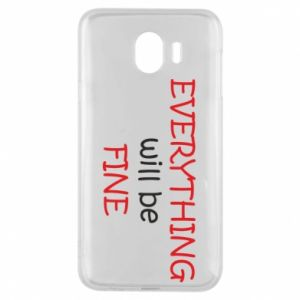 Etui na Samsung J4 Everything will be fine