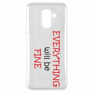 Etui na Samsung A6+ 2018 Everything will be fine