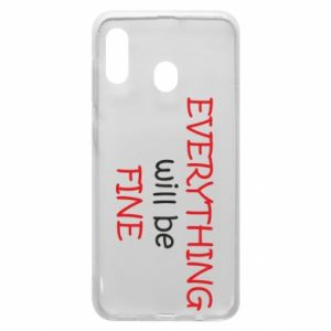 Etui na Samsung A30 Everything will be fine