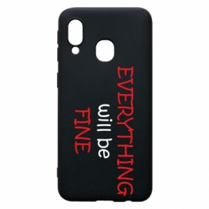 Etui na Samsung A40 Everything will be fine