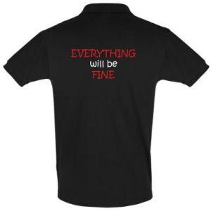 Koszulka Polo Everything will be fine