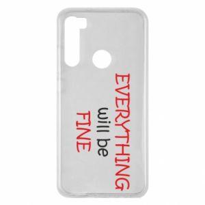 Etui na Xiaomi Redmi Note 8 Everything will be fine