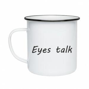 Kubek emaliowany Eyes talk