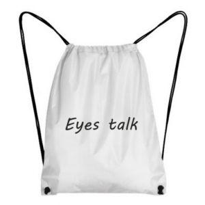 Plecak-worek Eyes talk
