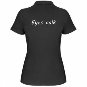 Koszulka polo damska Eyes talk
