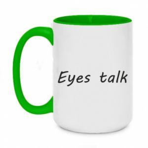 Kubek dwukolorowy 450ml Eyes talk
