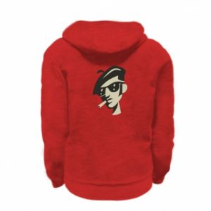 Kid's zipped hoodie % print% Guy with a cigarette