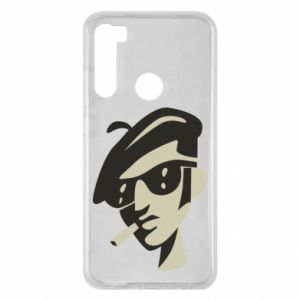 Xiaomi Redmi Note 8 Case Guy with a cigarette