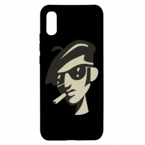 Xiaomi Redmi 9a Case Guy with a cigarette