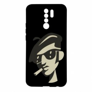 Xiaomi Redmi 9 Case Guy with a cigarette