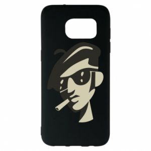 Samsung S7 EDGE Case Guy with a cigarette
