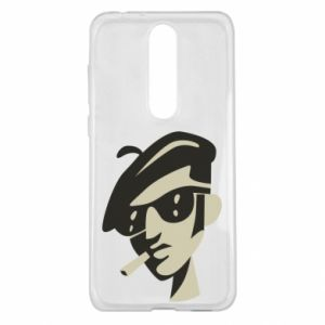 Nokia 5.1 Plus Case Guy with a cigarette