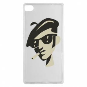 Huawei P8 Case Guy with a cigarette