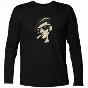 Koszulka z długim rękawem Facet z papierosem