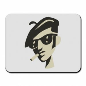 Mouse pad Guy with a cigarette