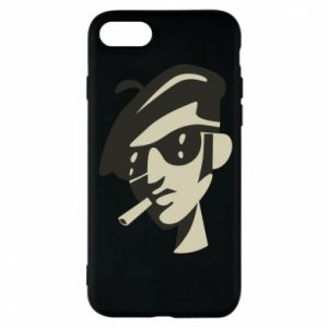 iPhone 8 Case Guy with a cigarette