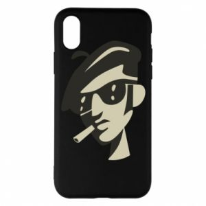 iPhone X/Xs Case Guy with a cigarette