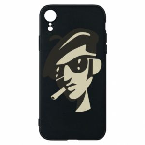 iPhone XR Case Guy with a cigarette