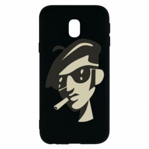Samsung J3 2017 Case Guy with a cigarette
