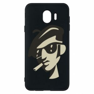 Samsung J4 Case Guy with a cigarette