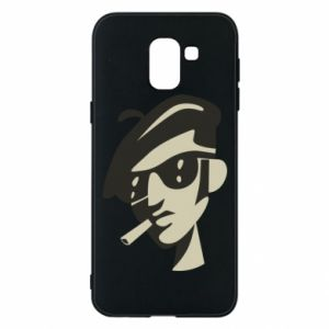 Samsung J6 Case Guy with a cigarette