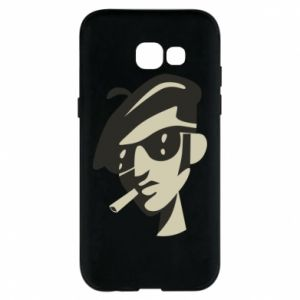 Samsung A5 2017 Case Guy with a cigarette