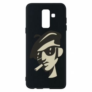 Samsung A6+ 2018 Case Guy with a cigarette