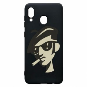 Samsung A20 Case Guy with a cigarette